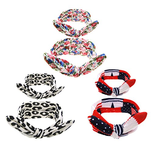 [Welandtech Baby Girl Big Bow Knotted Headbands Elastic Hair Hoops 3 Value Pack (WQZ03)] (Mother And Infant Daughter Costumes)
