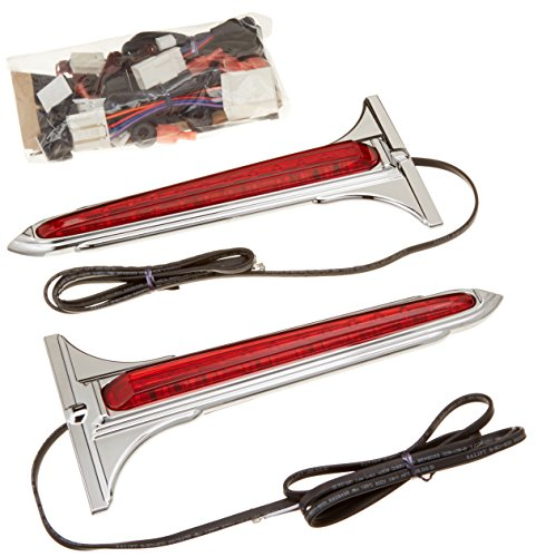 Kuryakyn 7262 Chrome/Red LED Rear Saddlebag - Accents Rear Saddlebag