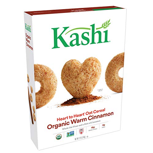Kashi Heart to Heart, Breakfast Oat Cereal, Organic Warm Cinnamon, Non-GMO Project Verified, 12 oz