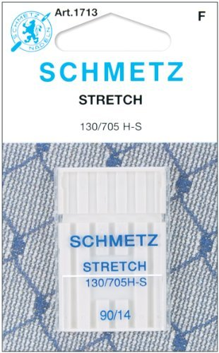 - 25 Schmetz Stretch Sewing Machine Needles 130/705H H-S Size 90/14