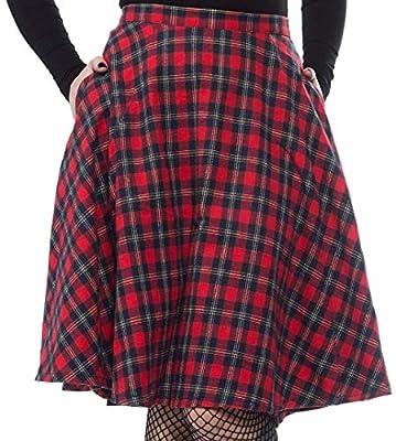 Sourpuss Plaid Bonnie Skirt Red