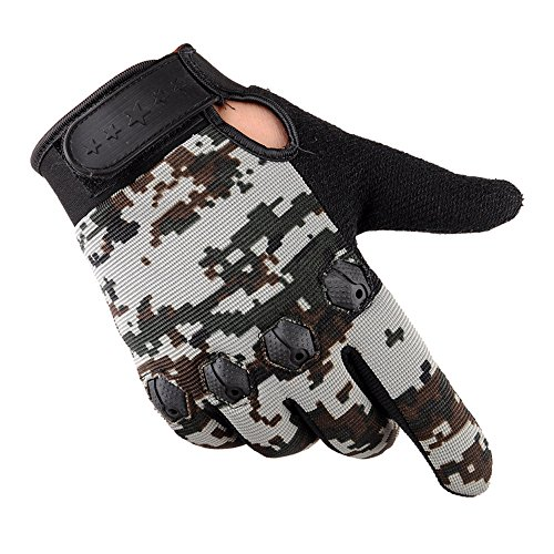 URIBAKE Fashion Men's Fitness Gloves Camouflage Antiskip Winter Outdoor Driving Sports Cycling Gloves]()
