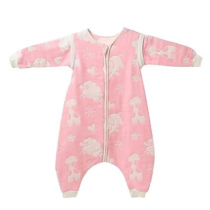 daishu guai guai Baby Saco de dormir con pies (Rosa) (Animal) rosa