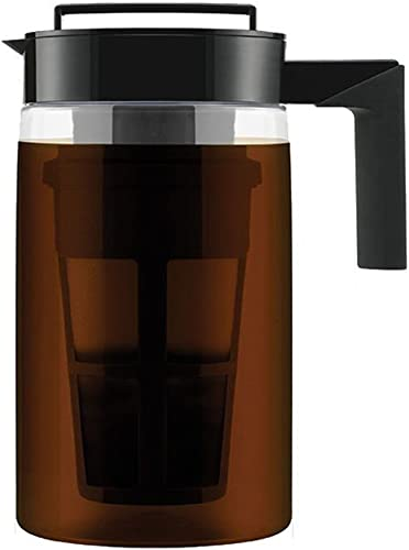 900ML Cold Brew Iced Coffee Maker Airtight Seal Silicone Handle Coffee Kettle with New and Improved Filter A