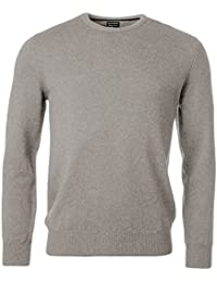 Mens Long Sleeve Crew Neck Sweater Premium Luxe Yarn