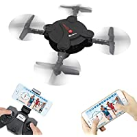 EACHINE E55 WiFi FPV Quadcopter With Camera High Hold Mode Foldable Pocket Drone RC Mini Nano Quadcopter Drone (Black)