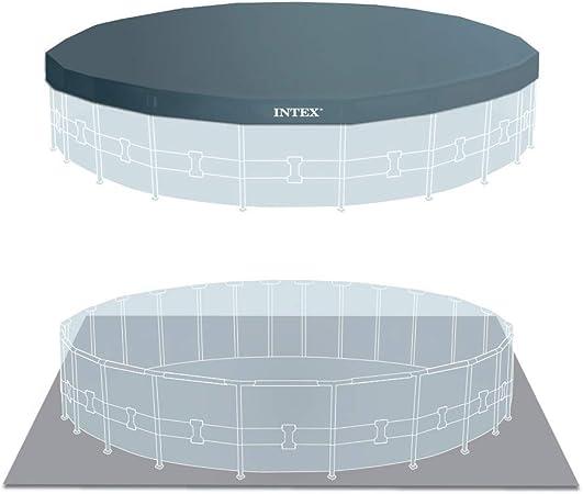 Intex 26732NP Piscina desmontable redonda, con depuradora, 549 x ...