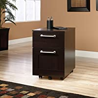 Sauder 415147 Jamocha Wood Finish Town File Cart