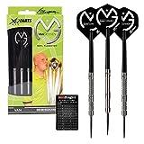 Michael Van Gerwen XQ Max 25g - 90% Tungsten Steel Darts with MVG Flights, Shafts, Slimline Case & Red Dragon Checkout Card
