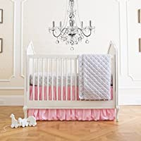 Summer Infant 4 Piece Classic Bedding Set with Adjustable Crib Skirt, Parisia...