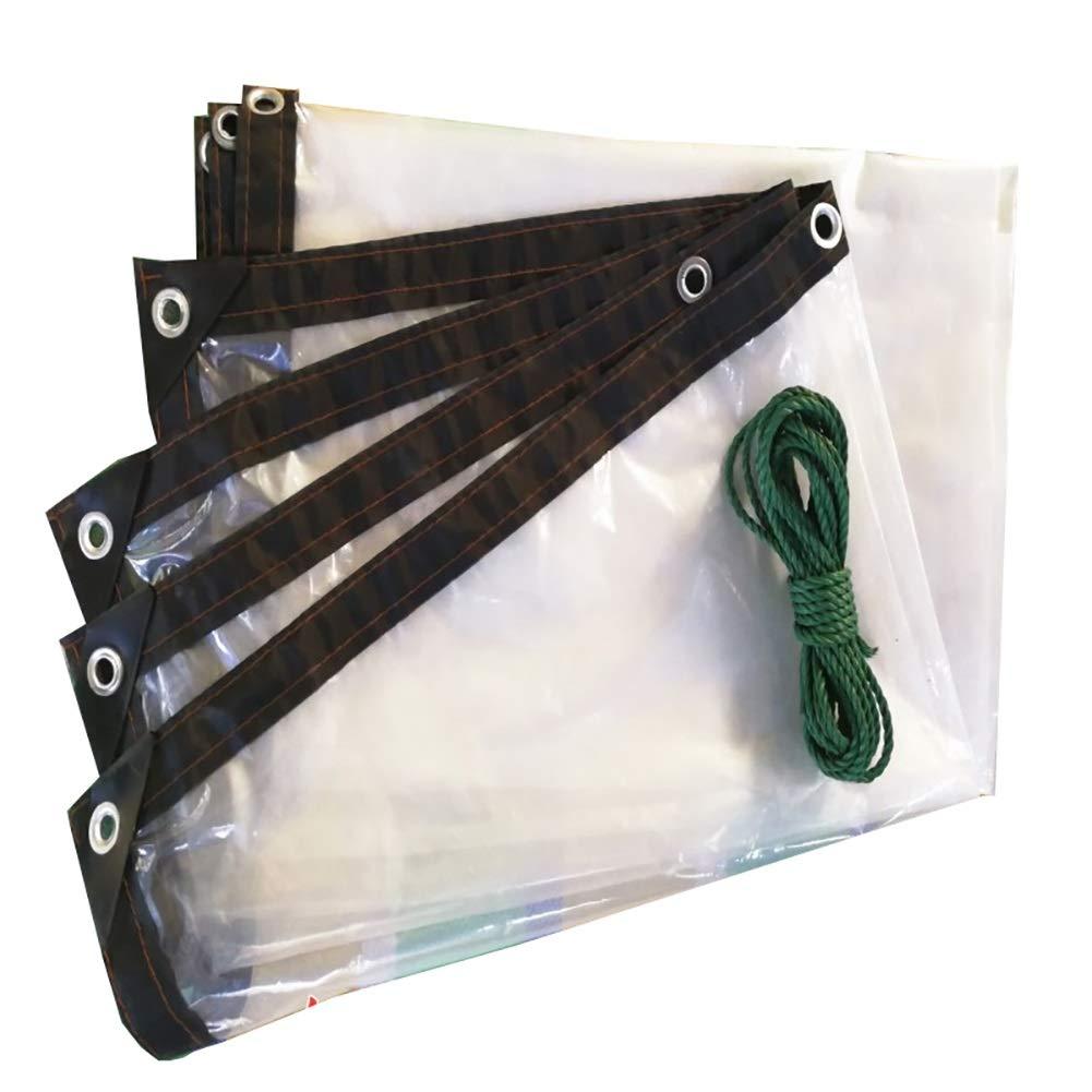 CAOYU Transparenter Wasserdichter Plane-Schwerlastwasserdichter Stoff mit Perforiertem Bodenbelagfachstoff