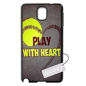 softball Samsung Galaxy Note3 N9000 Hard Back Case, softball Custom Case for Samsung Galaxy Note3 N9000 at WANNG