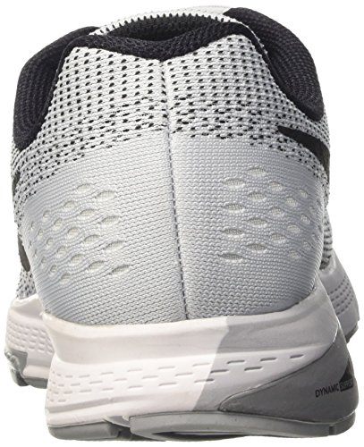 Platinum Air Pure Cl Zoom W para White Blk Plateado Nike Structure Zapatillas de Gry 19 Mujer Running Bq7x51wP