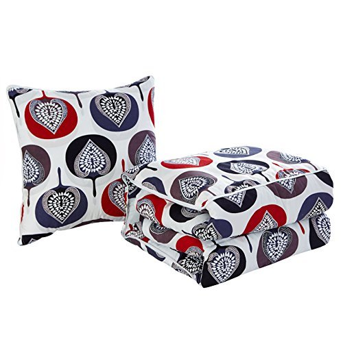 HOMEE Multifunction Car Pillow Quilt Sleeper Sofas Cotton Office Afternoon Nap on Pillows Are Men Ran ,50X50,,Heidi Manor,50x50 (House Manor China)