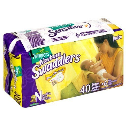 Pampers Swaddlers Diapers, Newborn Sesame Street, 40-Count ()