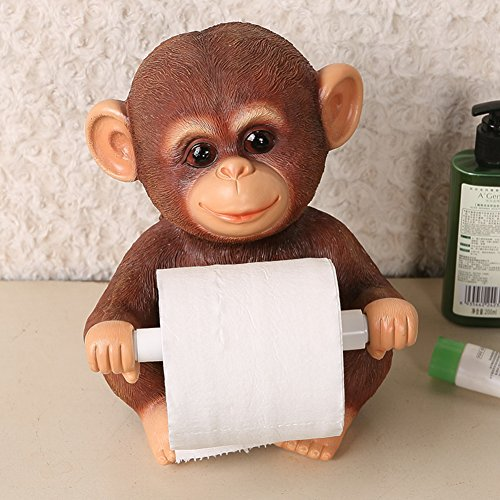 DW&HX Resin Toilet roll holders,Loo holder [lovely] Table Vertical [household] Tissues holder [creative] Restroom Loo roll holder Home Office - Loo C Green