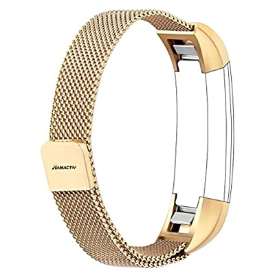 HAMACTIV Fitbit Alta Band, Adjustable Milanese Loop Stainless Steel Metal Bands Wristband Band Strap Bracelet with Magnetic Closure Clasp for Fitbit Alta HR Fitness Tracker Accessories