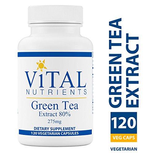 Vital Nutrients - Green Tea Extract 275 mg - Potent Antioxidant & Immune Enhancer - 120 Vegetarian Capsules per Bottle Barley Green 120 Capsules