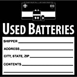 National Marker Corp. HW37SL100 Self-Laminating Labels, Used Batteries, 6 Inch X 6 Inch, PS Vinyl, Bx100