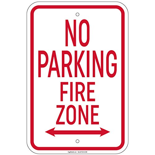 Double Arrow Sign (No Parking Fire Zone with double arrow 8