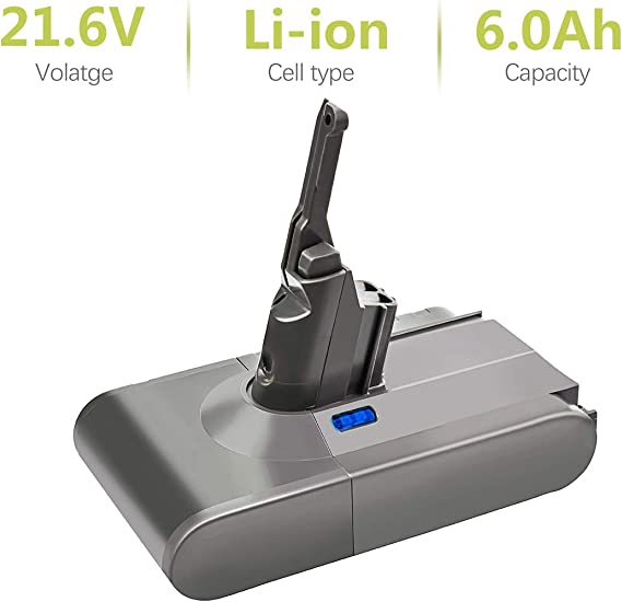Bonacell - Batería de ion de litio para aspiradora Dyson V8 Absolute V8 Animal y V8 Fluffy (21,6 V, 6000 mAh): Amazon.es: Hogar