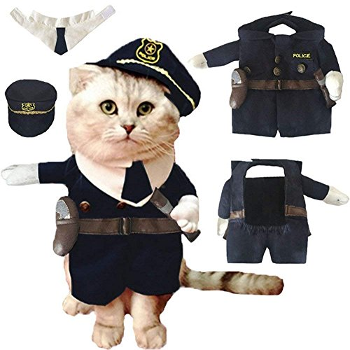 【Tona】 견복묘 옷 코스튬 할로윈 크리스마스 재미있 귀여운 변신복 애완동물복 소형견 중형견 변신복 귀여운 데 polisman에게 변신
