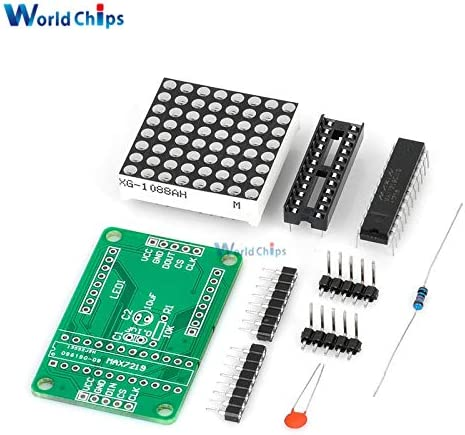 Ponis-Limos MAX7219 7219 8X8 Red LED Dot Matrix Module MCU Control Controller Display Drive Driver Board For Arduino Common Cathode DIY Kit