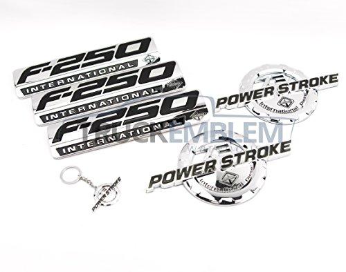 Truck Emblem Warehouse 5 New Custom Chrome F250 7.3L Powerstroke International Fender Badges Tailgate