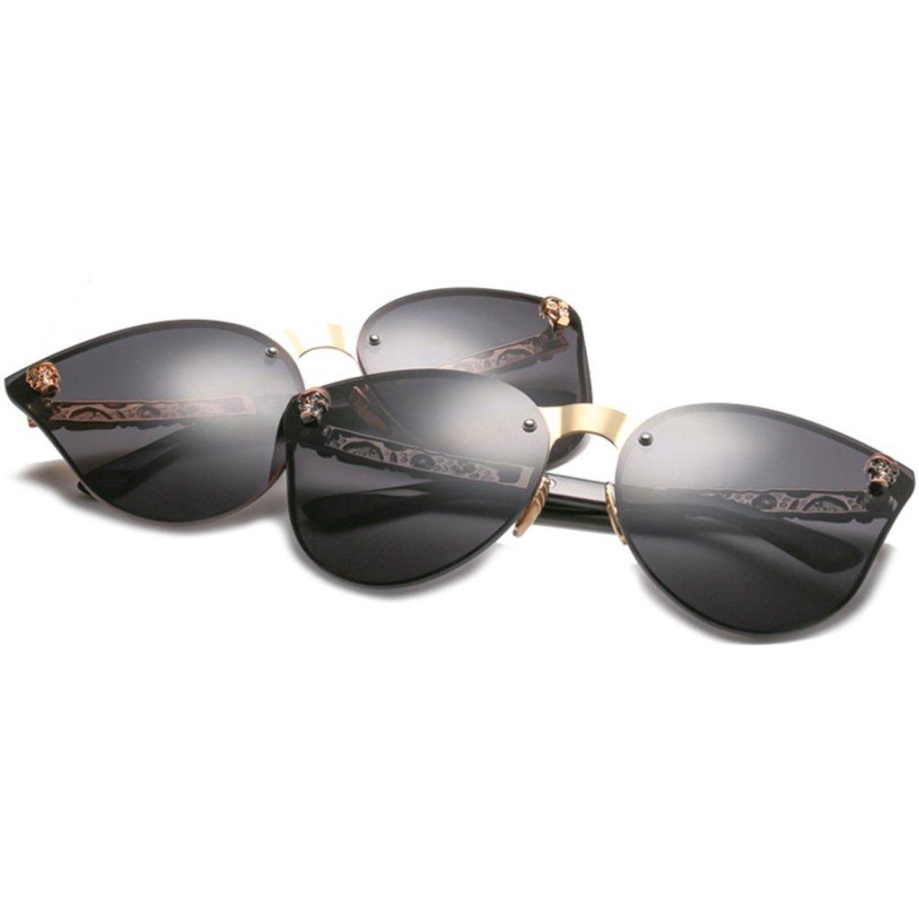 JAGENIE Skull donne Cat Eye occhiali da sole vintage oversize Rimless occhiali a specchio 3 i8x9dtuS8Q