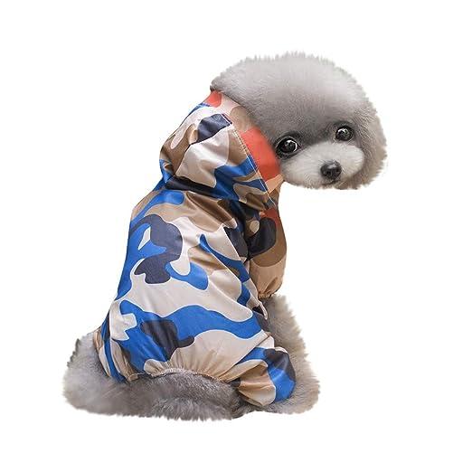 Ropa para Mascotas,Dragon868 Impermeables Perro Mascota Abrigos de Camuflaje con Capucha: Amazon.es: Ropa y accesorios