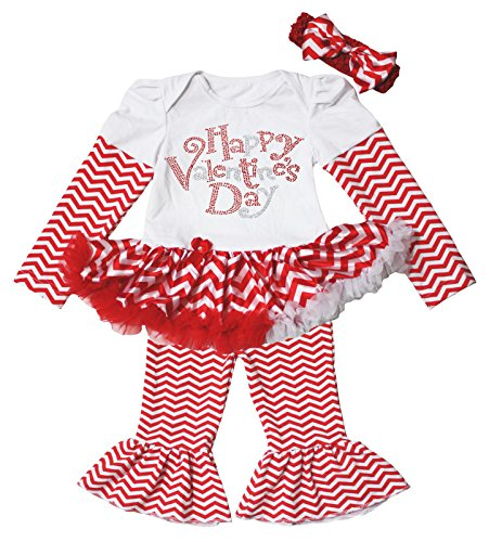 Clothing, Shoes & Accessories Valentine Leopard Love White Bodysuit Girls Red Romantic Rose Baby Dress Nb-18m Keep You Fit All The Time Girls' Clothing (newborn-5t)