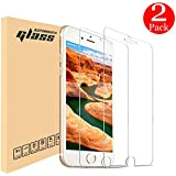 """iPhone 7 8 6S 6 Screen Protector, Automoness 9H HD Ultra Clear Anti-Bubble iPhone 7, iPhone 8 Tempered Glass Screen Protector for Apple iPhone 8, iPhone 7, iPhone 6S, iPhone 6, 4.7"""" (2-Pack)"""