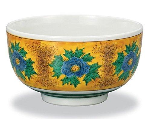 Japanese 6.3' Donburi Bowl Peony flowers design,Yoshidaya Kutani Yaki(ware)