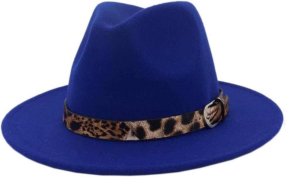 Sombrero Fedora De Mujer Jazz Leopardo Cinturón Hebilla De ala ...