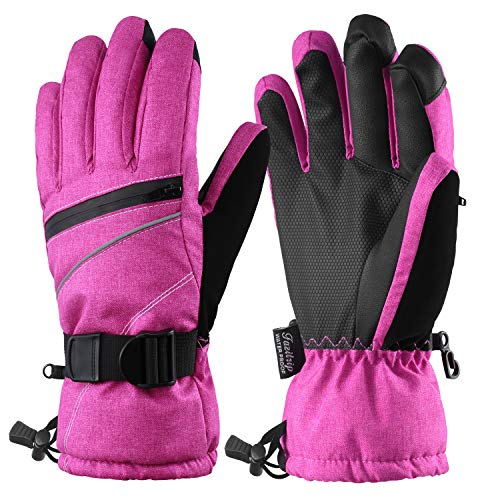 - Fazitrip Women's Ski Gloves, 3M Thinsulate Snow Warm Insulated Winter Gloves Windproof Waterproof Gloves for Skiing, Snowboarding and Skating