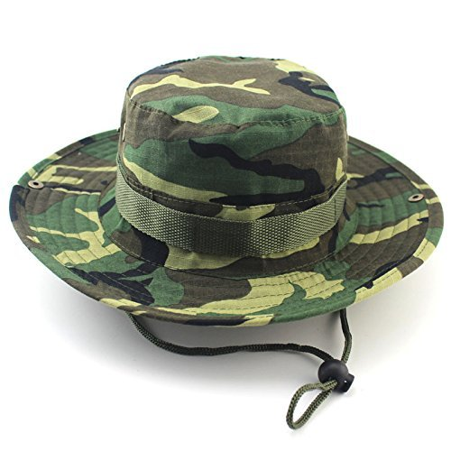 Ceslysun Men s Olive Fishing Boating Sun Flap Wide Bill Hat Cap