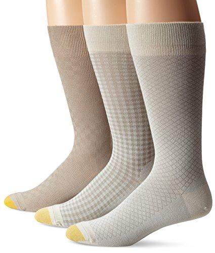 Gold Toe Mens Freshcare Fashion Dress Crew Socks (3 Pack)