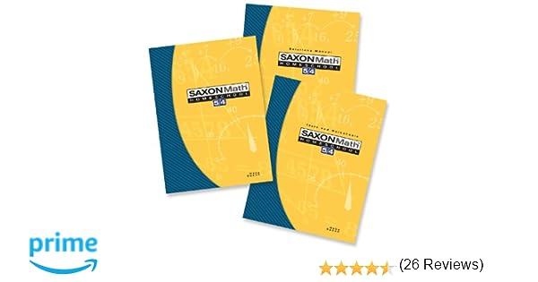 Saxon Math 5/4: Homeschool Set/Box: SAXON PUBLISHERS ...