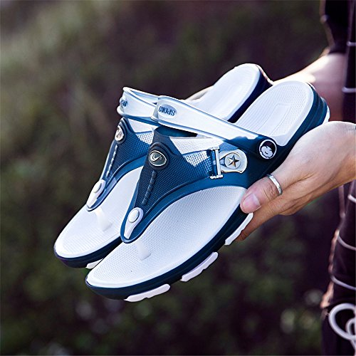 Eagsouni Men's Flip-Flops Sandals Summer Arch Support Thongs Breathable Lightweight Cozy Slip on Slippers for Beach Pool Shower Size 6-10.5 Darkblue swWi9cqkHZ