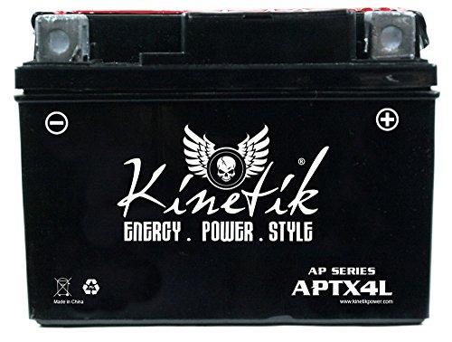 Kinetik 12V 3AH Battery for 1987-2001 Yamaha Scooter SH50...
