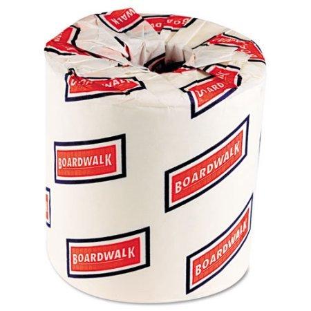 Boardwalk Two-Ply Toilet Tissue, White, 4 1/2 x 3 3/4 Sheet, 500 Sheets/Roll, 96 Rolls/CT - 1 Case by Boardwalk