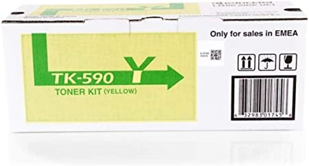 Kyocera Fs C 5250 Dn Tk 590 Y 1t02kvanl0 Original Toner Gelb 5 000 Seiten Bürobedarf Schreibwaren