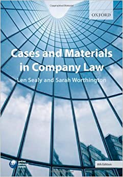 Cases and Materials in Company Law by Sealy, L., Worthington, Sarah (2007)