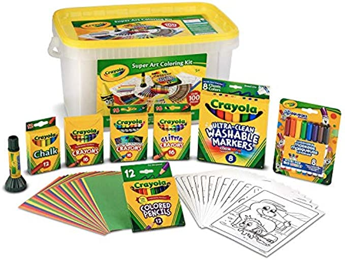 Crayola Super Art Coloring Kit 100+ pieces