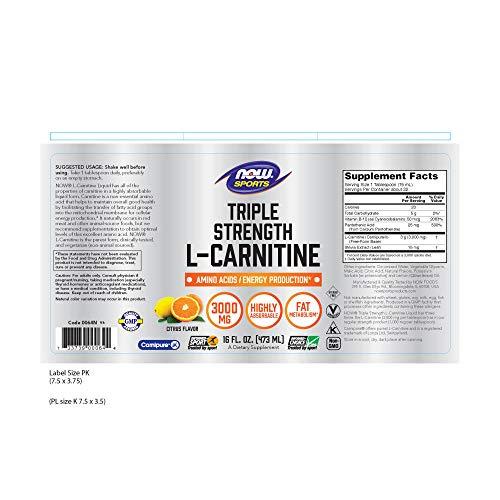 Shopus Now Sports Nutrition L Carnitine Liquid Triple Strength