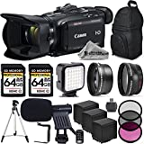 Canon VIXIA HF G40 Full HD Camcorder, Built-In Wi-Fi with FTP Transfer + Wide Angle Lens + 2.2x Telephoto HD LenS + Filter Accessory Kit (UV, CPL, FLD) 2 Of 64GB Memory Card + Shotgun Microphone