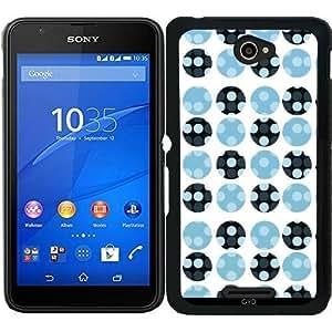 Funda para Sony Xperia E4 - Lunares Azules by VanessaGF