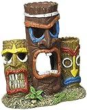 Blue Ribbon Pet Products Exotic Environments 3 Piece Tiki Head Statue Aquarium Ornament