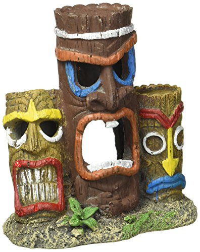 Blue Ribbon Pet Products Exotic Environments 3 Piece Tiki Head Statue Aquarium Ornament by Blue Ribbon