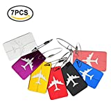 Office Products : KINGLAKE 7Pcs Travel Luggage Tags Cute Luggage Label Suitcase Luggage Bag Tags Card Holder Aluminum Alloy Airline Baggage Labels Travel ID Bag Tag
